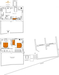 Plattegrond van Girasole 2 verdiepingen